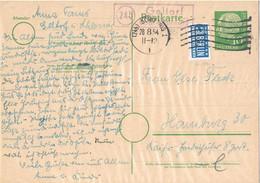 42163. Entero Postal GELLORF (Alemania Federal) 1954. Stamp NOTOPFER Berlin. Post Agentur, Carteria, Postablage - Briefe U. Dokumente