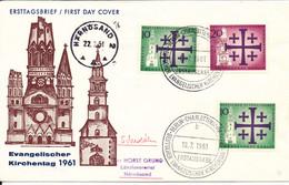 Germany Berlin FDC 19-7-1961 Evangelischer Kirchentag With Cachet - FDC: Briefe
