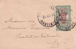 MARTINIQUE 1923   ENTIER POSTAL/GANZSACHE/POSTAL STATIONERY LETTRE DE FORT DE FRANCE - Briefe U. Dokumente