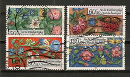 BRD 1985  Mi.Nr. 1259 / 62 , Miniaturen - Wohlfahrt - Gestempelt / Fine Used / (o) - Gebraucht