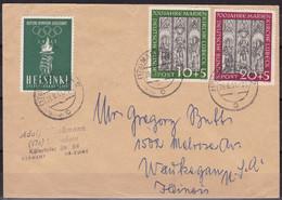 BRD 1951, 139/40 Marienkirche, Brief In Die USA - Briefe U. Dokumente