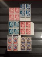 ALGERIE . 1942-48 . ARMOIRIES . N°180 à 269 . 6 Blocs NEUFS SANS Charnières. Côte YT Colonies 2022 : 34,00 € - Unused Stamps