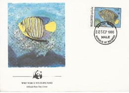 26125)  Maldives  WWF 1986 Fish Cover - Maldiven (1965-...)