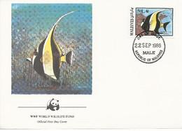 26126)  Maldives  WWF 1986 Fish Cover - Maldiven (1965-...)