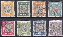 IS528 – ISLANDE – ICELAND – OFFICIAL – 1907-08 KINGS ISSUE – SG # O99/106 USED 87,50 € - Officials