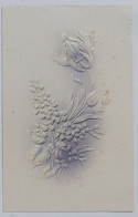 05458 Cartolina - Fiori - A Rilievo - Flowers