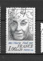 France: N°1986 Oblit; Marie Noël - Gebraucht