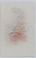 05460 Cartolina - Fiori - A Rilievo - Flowers