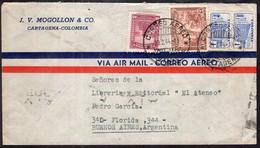 Colombia - 1944 - Lettre - Par Avion - Envoyé En Argentina - Colombia