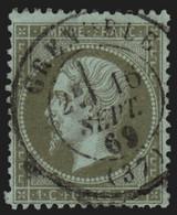 France N°19, Oblitéré Càd GRENOBLE Isère COTE 50€ - TB - 1862 Napoléon III.