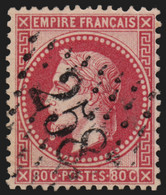 France N°32, Oblitéré GC 258 AVESNES-LE-COMTE Pas-de-Calais Indice 5 - TB - 1863-1870 Napoléon III. Laure