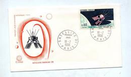 Lettre Fdc 1966 Paris Satellite - 1960-1969