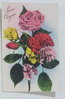 05474 Cartolina - Fiori - Sinceri Auguri 1948 - Flowers
