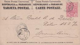 PARAGUAY  ENTIER POSTAL/GANZSACHE/POSTAL STATIONERY CARTEDE ASUNCION - Paraguay