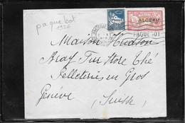 Algerie 1926, Paquebot Mail To Switzerland Via Marseille (ref 1080b) - Covers & Documents