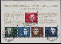 BRD 1959, 315/19 Block 2, Used ESt, Einweihung Der Beethovenhalle Bonn.. - Gebraucht
