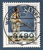BRD 1987 Mi.Nr. 1314 , 75. Todestag Von Karl May - Gestempelt / Fine Used / (o) - Gebraucht