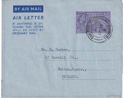 TRINITAD ET TOBAGO 1954   ENTIER POSTAL/GANZSACHE/POSTAL STATIONERY PLI AERIEN DE SAN FERNANDO - Trinidad & Tobago (...-1961)