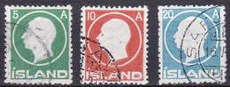 IS012 – ISLANDE – ICELAND – 1912 – KING FRDERIK VIII – SG # 102/4 USED 46 € - Used Stamps