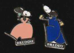 72935-lot De 2 Pin's. Bred .Banque Populaire - Breddie.breddy. - Banks