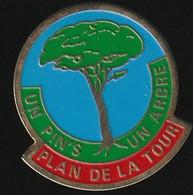 72938- Pin's. Plan De La Tour.un Pin's Un Arbre. - Cities