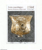 ANDORRA. Restes Arqueologiques - Santa Eulàlia D'Encamp. 2021. Timbre Oblitéré, 1 ère Qualité. Haute Faciale - Gebraucht
