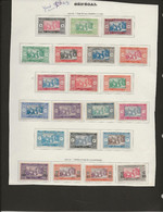 SENEGAL - TIMBRES N° 72 A 90 NEUF CHARNIERE -ANNEE 1922-26 -COTE : 24 € - Unused Stamps