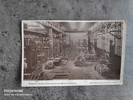 SANKEY BARROW CARTE POSTALE VINTAGE POSTCARD WW VICKERS NAVAL CONSTRUCTION WORKS GUN MOUNTING MACHINE SHOP ANNEES 40 TBE - Guerra 1939-45