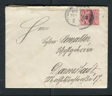 """Deutsches Reich / 1897 / Brief Bahnpoststempel """"Frankfurt-............."""" (5125) - Briefe U. Dokumente"""