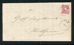 """Deutsches Reich / 1881 / Faltbriefhuelle K1-Stempel """"AUGGEN"""" (5126) - Briefe U. Dokumente"""
