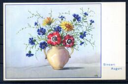 Cartolina AUGURALE FIORI FLOWERS Card - Stampata In Italia - Flowers