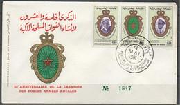 MAROC 1981 FDC Enveloppe Oblitération 1er JOUR Y&T N° 884A - Marokko (1956-...)