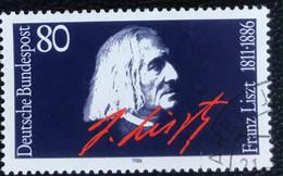 Deutsche Bundespost - C2/40 - (°)used - 1986 - Michel 1285 - Franz Liszt 100e Sterfjaar - Gebraucht