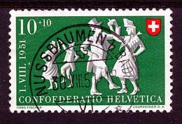"""HELVETIA - Mi 556 - """"NUSSBAUMEN B.BADEN"""" - (ref. 3904) - Usados"""