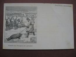 CPA ILLUSTRATEUR GRAVURE Journal Des Voyages VINTRAUT Domblanc CHASSE AU PHOQUE EN LAPONIE - Hunting