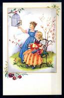 Cartolina AUGURALE Bambini CHILDRENS KIDS - Kindertekeningen