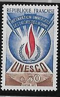 FRANCE  UNESCO Déclaration Universelle Des Droits De L'homme   N°41  Année 1969/71 - Ungebraucht