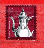 (Us.2) Stati Uniti ° - 2007 - Silver Coffeepot.   Mi. 4200.  Used. - Gebraucht