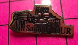 120 Pin's Pins / Beau Et Rare / THEME : VILLES / SAINT FLOUR C'est Nous Les Gars De La Farine ! - Cities