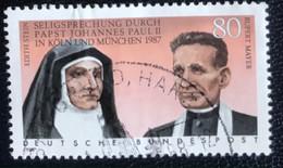 Deutsche Bundespost - C2/40 - (°)used - 1988 - Michel 1352 - Heiligverklaring Edith Stein En Rupert Mayer - Gebraucht