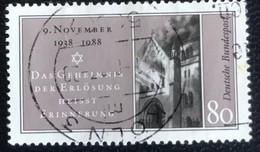 Deutsche Bundespost - C2/40 - (°)used - 1988 - Michel 1389 - Kristallnacht - Gebraucht