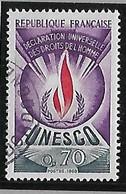 FRANCE  UNESCO Déclaration Universelle Des Droits De L'homme   N°42  Année 1969/71 - Gebraucht