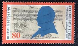 Deutsche Bundespost - C2/40 - (°)used - 1989 - Michel 1425 - Friedrich Silcher - Gebraucht