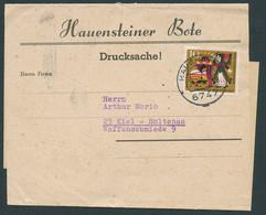 BUND 1964, Nr. 447, WOHLFAHRT AUF STREIFBAND DES HEUENSTEINER BOTENS - Briefe U. Dokumente