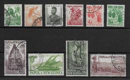 PAPUA NEW GUINEA * 1952 * Set 10 Stamps * USED* Local Motives - Mi.No 1,4-6,8-10,15-16,19 - Papua New Guinea