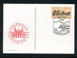 "DDR / 1985 / Postkarte Mi. P 93 SSt. ""Berlin-SOZPHILEX"" (5140) - Postkarten - Gebraucht"