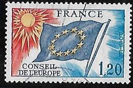 FRANCE  Conseil De L'Europe   N°48  Année 1975 - Gebraucht