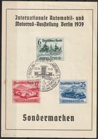 Mi. 686/688 O Int. Automobil Und Motorrad Ausstellung Berlin 1939 - Used Stamps