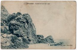 CPA Algérie Cap Aokas Rochers Au Bord De La Mer Photo Albert - Otros