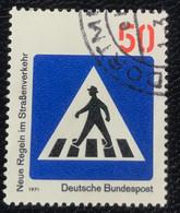 Deutsche Bundespost - C2/41 - (°)used - 1971 - Michel 668 - Nieuwe Verkeersregels - Gebraucht